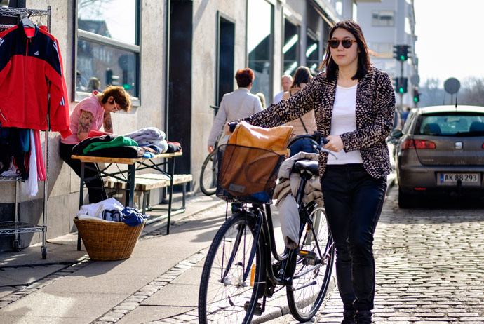 Long-term bike rentals are also available in Copenhagen