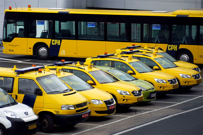Taxis at Copenhagen Airport