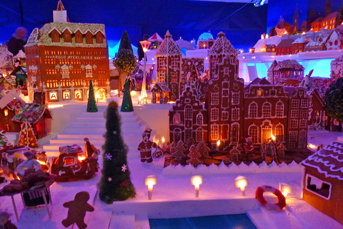 The gingerbread town in Bergen, Norway