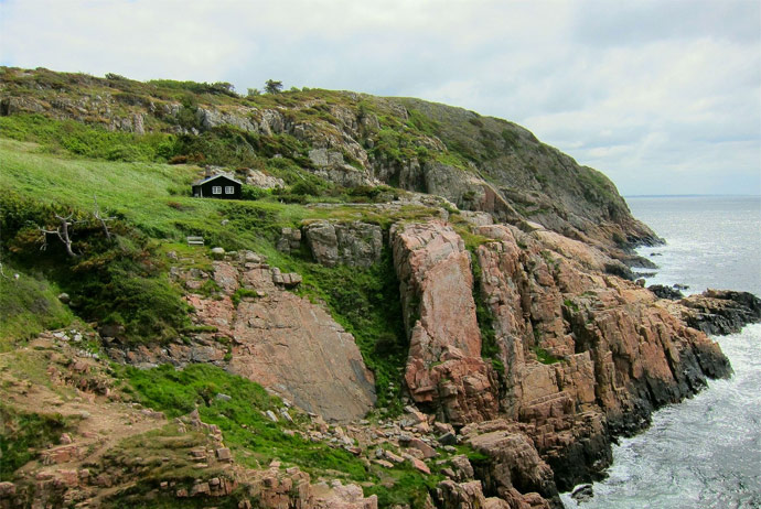 The Kullaberg peninsular in southern Sweden is great for hiking