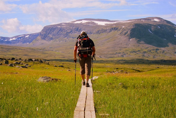 The Kungsleden trail is one of the best places for hiking in Sweden