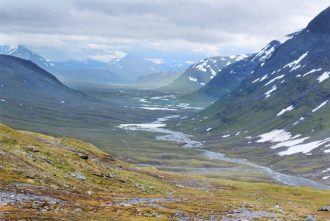 The Kungsleden hiking trail in northern Sweden