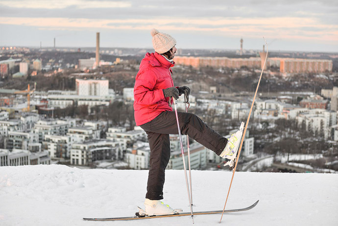 You can ski in Stockholm during the winter