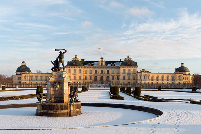 Drottningholm Palace in the winter