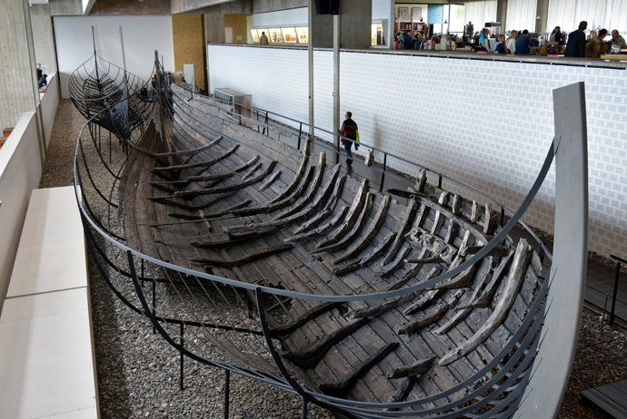 The Viking Ship museum in Roskilde, a 30 minute journey from Copenhagen