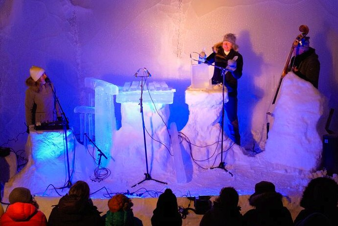 Ice instruments at the Ice Music Festival, Finse, Norway