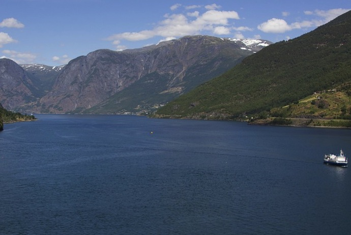 View of the fjord from Flam