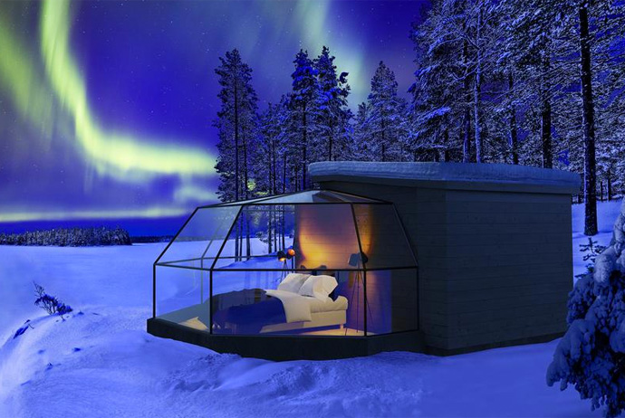 The igloo hotel in Finland