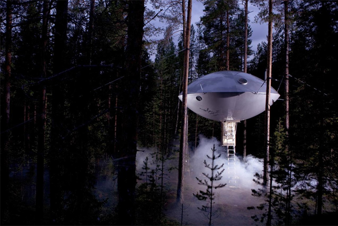 This UFO at the Treehotel is an incredible place to stay