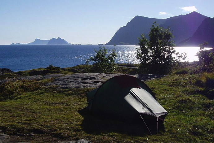 camping in the Lofoton