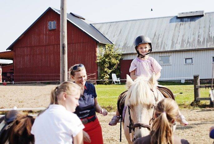 Horse riding is a fun way to meet people in Stockholm