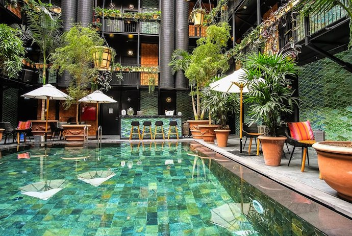 This tropical pool is hidden at a hotel in Copenhagen