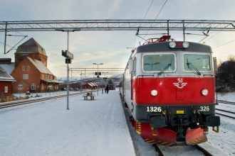 The night train is the most comfortable option for getting from Stockholm to Kiruna