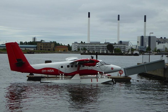 An exciting way of getting to Aarhus from Copenhagen is by sea plane