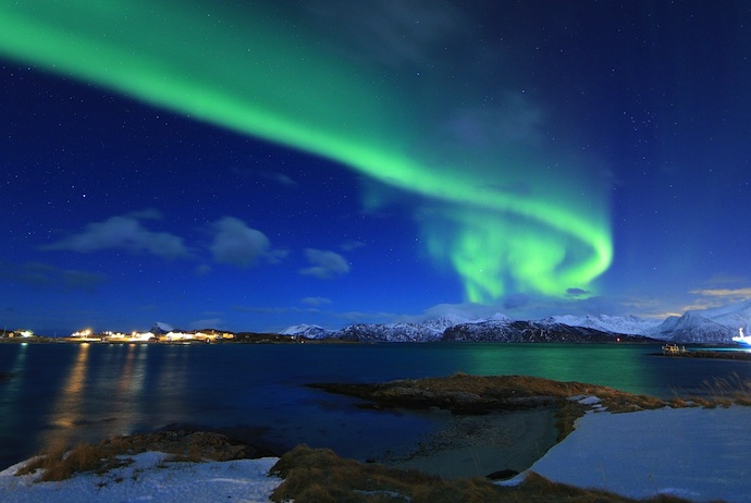 The best views of the northern lights in Norway are in winter