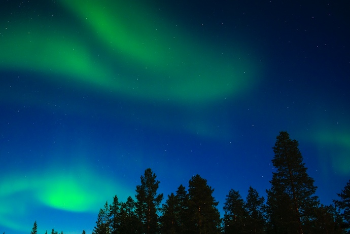 You can't see the northern lights in Helsinki, but a day trip to Rovaniemi is possible