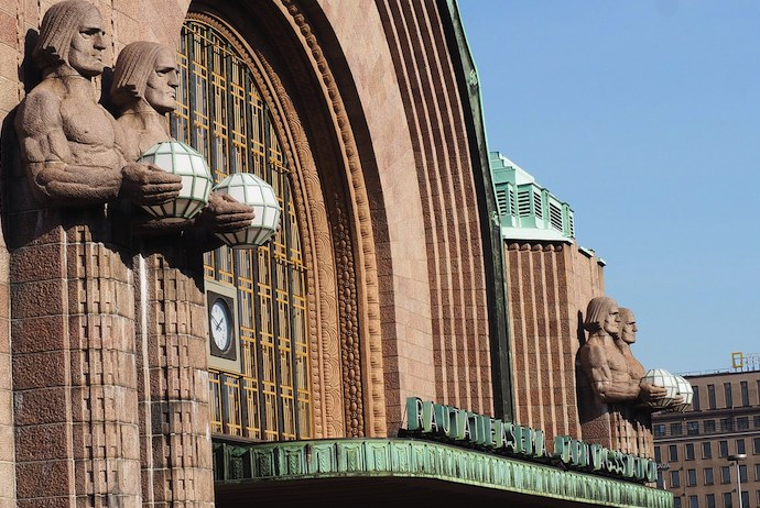 Helsinki's central railway station is a good place for a beer