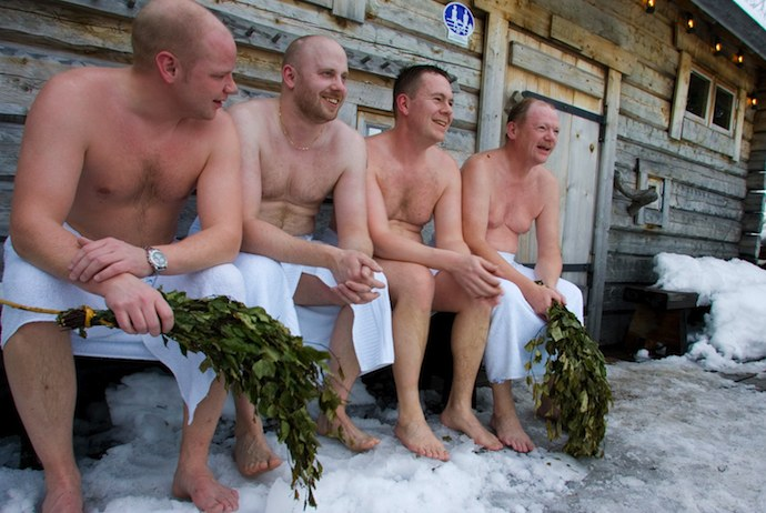 Outdoor treatments at an Arctic spa in Swedish Lapland