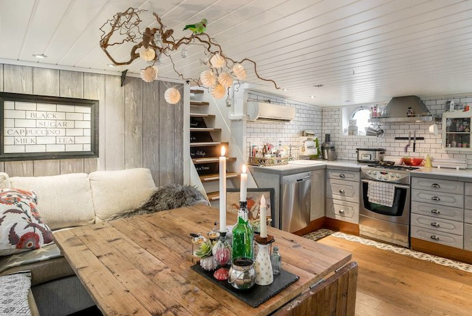 You can stay on this spectacular houseboat in Stavanger, Norway