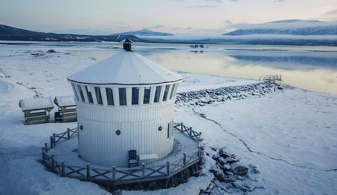 Enjoy 360-degree views from this lighthouse hotel in Senja, Norway