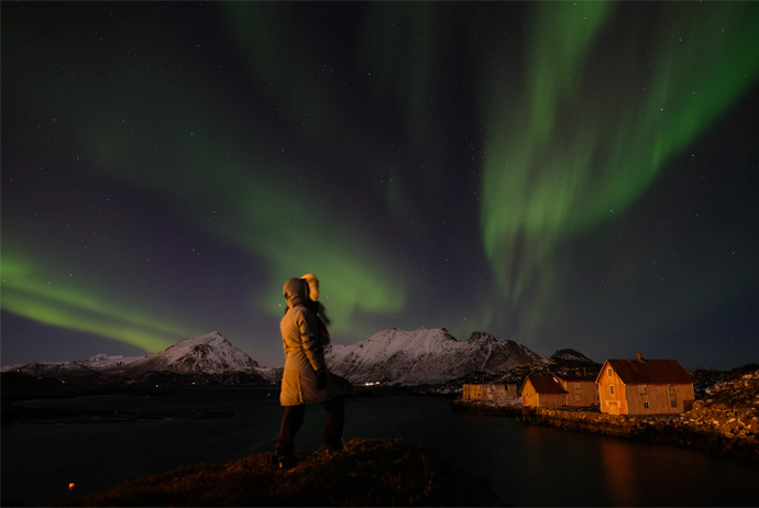 Lots of people visit Norway to see the northern lights