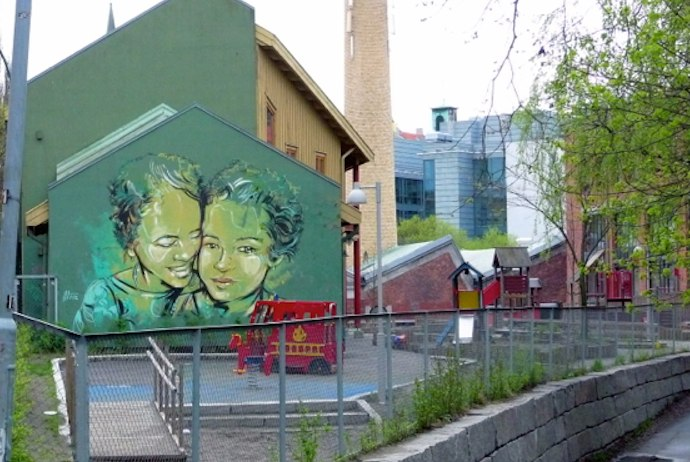 Check out the street art on hipster walking tour of Oslo
