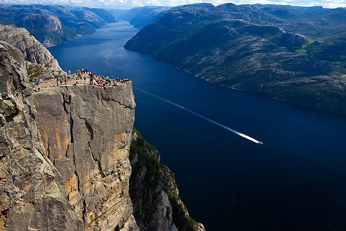 The dramatic Pulpit Rock, Norway