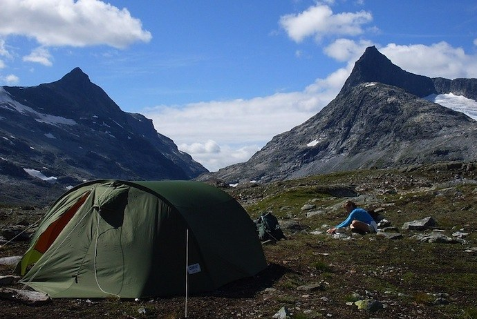wild camping in the mountains, Norway