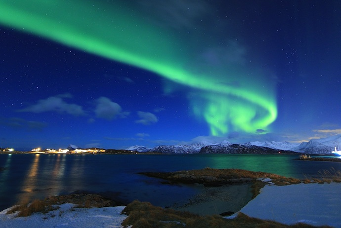 Watching the northern lights from the Hurtigruten