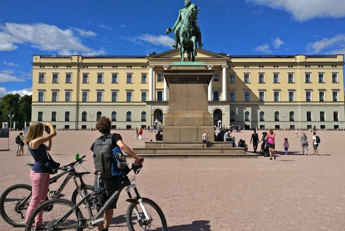 It's easy to see Oslo's main sights by bike