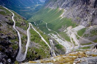 dramatic scenery along Norway's mountain roads