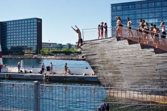 Islands Brygge Harbour Baths is great for children, Copenhagen