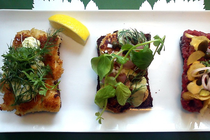You can try New Nordic Smørrebrød at these restaurants in Copenhagen