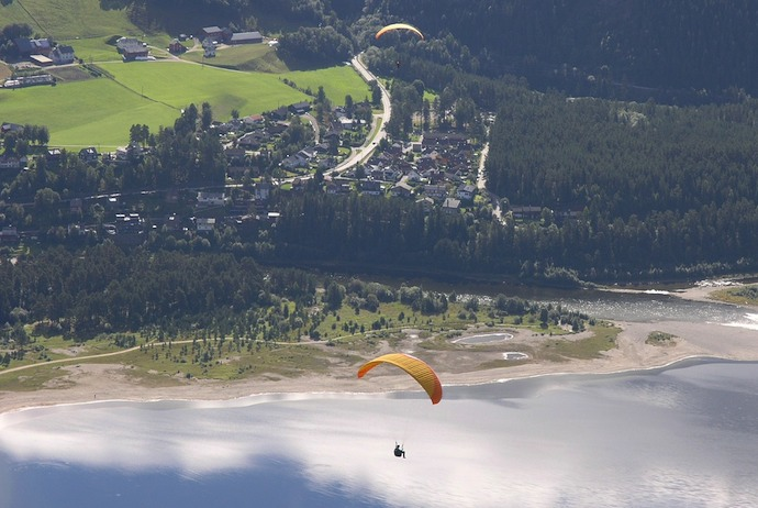 Paragliding, Voss, Norway