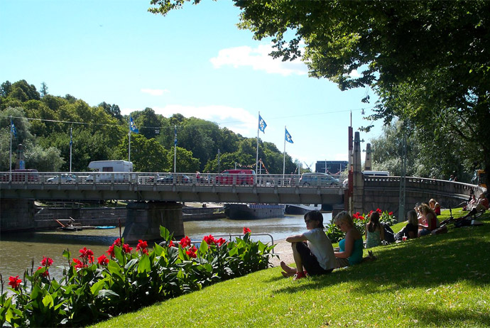 Taking a walk along the river is one of the best free things to do in Turku