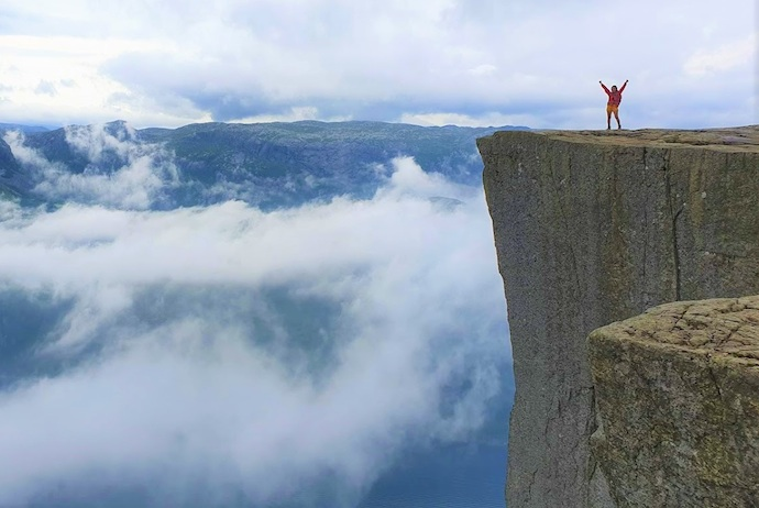 The summit of Pulpit Rock, Norway